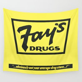 Fay's Drugs | the Immortal Yellow Bag Wall Tapestry