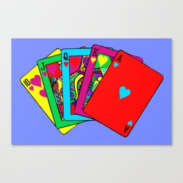 Fluorescent Royal Flush Canvas Print