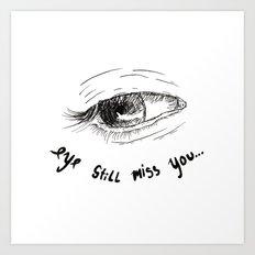 eyes don't lie 04 Art Print