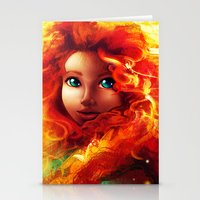 brave Stationery Cards featuring Brave by Peach Momoko