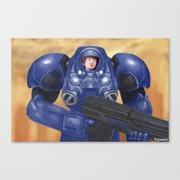 starcraft Canvas Prints featuring Space Marine by Tomcii