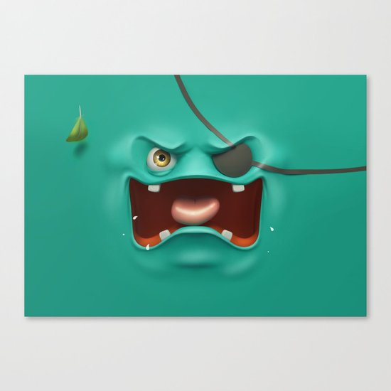 Angry face Canvas Print