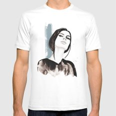 Looking down Mens Fitted Tee White MEDIUM