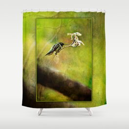Hummingbird at rest ~ Ginkelmier Inspired Shower Curtain