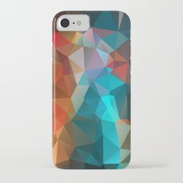 Abstract bright background of triangles polygon print illustration iPhone Case