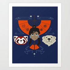 Spirited Avatar Art Print