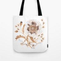 oana befort Tote Bags featuring Golden Poppy by Oana Befort