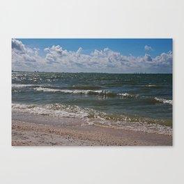 Sandcastle Kisses Canvas Print