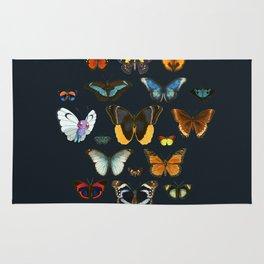 Entomology Vintage Butterfly Rug