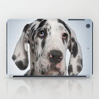 great dane iPad Cases featuring Great dane by Life on White Creative