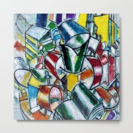 Vibrant and Colorful 'Nature Morte (Still Life)' by Fernand Léger Metal Print