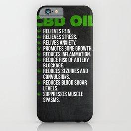 CBD Oil iPhone Case