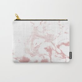 Marble pastel pink 4 Suminagashi watercolor pattern art pisces water wave ocean minimal design Carry-All Pouch