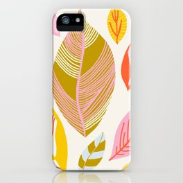 Timberlee, modern autumn leaves iPhone Case
