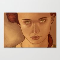 sansa Canvas Prints featuring Sansa Portrait by Saucy Artwork