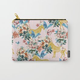 Floral & Zebras Carry-All Pouch