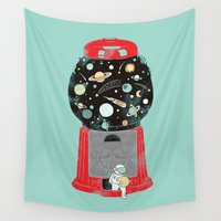 ilovedoodle Wall Tapestries featuring My childhood universe by I Love Doodle