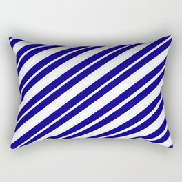 TEAM COLORS 1...Blue and white Rectangular Pillow