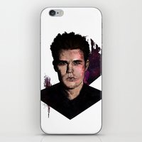 wesley bird iPhone & iPod Skins featuring Paul Wesley by DijaDalmaArt