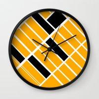 santa monica Wall Clocks featuring Santa Monica Ca. by Studio Tesouro