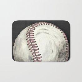 Vintage Baseball Art Bath Mat