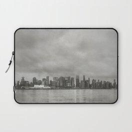 Vancouver Raincity Series - Raincity i - Moody Downtown Vancouver Cityscape Laptop Sleeve