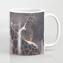 Giraffe Strut // Spotted Long Neck Graceful Creatures in Wildlife Preserve Coffee Mug