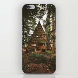 A-Frame Cabin in the Woods iPhone Skin