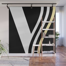modern home design black white and gold Wall Mural