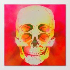the 4i skull stencil art - neon Canvas Print