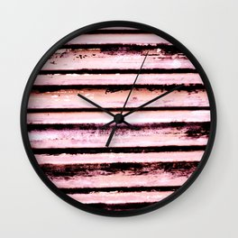 Pink Stripes Wall Clock