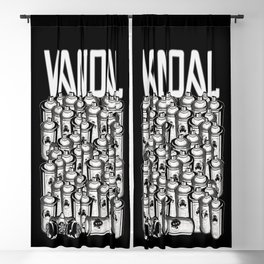 VANDAL and SPRAY CANS Blackout Curtain