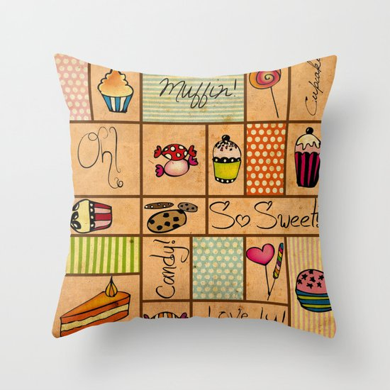Sweet Things! Throw Pillow