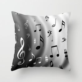 Music waves Throw Pillow