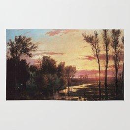Un tramonto dopo la pioggia: A sunset after rain 1864 Rug