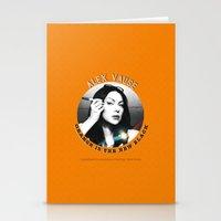 alex vause Stationery Cards featuring Alex Vause - OITNB Character by Sandi Panda