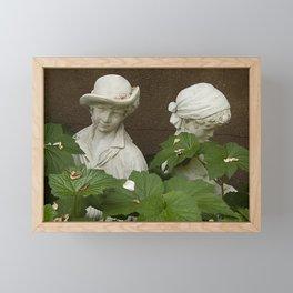 Young Friends In English Garden Framed Mini Art Print
