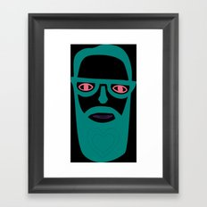 Carry your love in your beard Framed Art Print