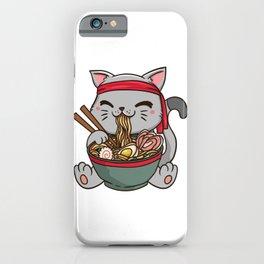 Cute Anime Ramen Cat - Otaku T-Shirt iPhone Case