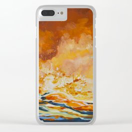 Burn Clear iPhone Case