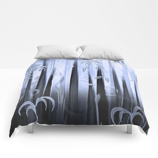 Blue Forest Abstract Comforters