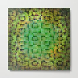 Green woven nature abstract Metal Print