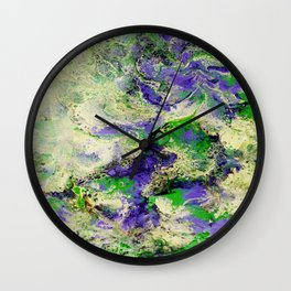 Pansies in Cream Wall Clock