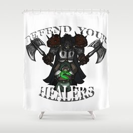 Defend Your Healers Shower Curtain