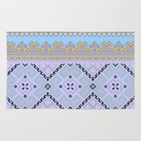 ukraine Area & Throw Rugs featuring Colorful Ukraine ornaments by blackwhitehotos