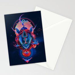 Blue gibbon Stationery Cards