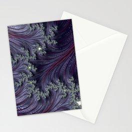 Purple Violet Wispy Feathery Elegant Fancy Beautiful 3D Swirling Flourish Abstract Fractal Art Stationery Cards