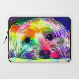 Colorful Yorkie By Annie Zeno  Laptop Sleeve