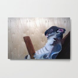 I only saw rainbows when the bandages came off/ koala Metal Print