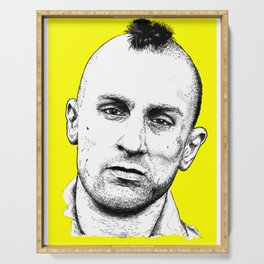 Taxi Driver Travis Bickle Block Series Serving Tray